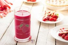 Strawberry Rhubarb Ring Candle - Diamond Candles - Home Fragrance Made Fun
