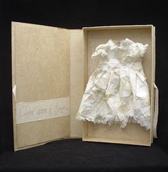 Esther Kalaba 2005 - handmade paper box and dress - Once Upon a Time