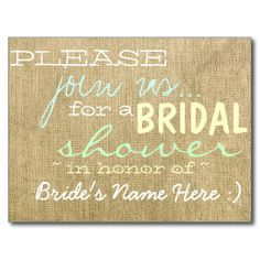 Vintage Burlap Country Bridal Shower Invitation Post Card today price drop and special promotion. Get The best buyThis Deals          	Vintage Burlap Country Bridal Shower Invitation Post Card Review on the This website by click the button below...