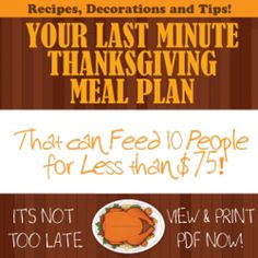 Thanksgiving dinner for 10 people, under 75 bucks total. With printable recipes and shopping list. Thanksgiving Crafts For Kids, Thanksgiving Side Dishes, Thanksgiving Desserts, Holiday Recipes, Holiday Ideas, Money Saving Tips, Meal Planning, Healthy Food, Yummy Food