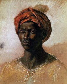 Portrait of a Turk in a Turban Painting - Portrait of a Turk in a Turban Fine Art Print