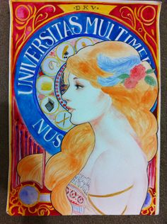 Art - nouveau for my assignment  by @mervyvalencia  #draw #illustration #ink #paint #creative #sketch #gallery #graphic #drawing #freehand