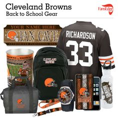 Cleveland Browns Fans - Pin It to Win It All! You can win a complete back to school NFL prize pack worth over 300 dollars! To enter, pin your favorite NFL Team's Back to School image to win every item in the collage! #FansEdge –Visit http://www.fansedge.com/promotions.aspx?social=pinterest_nfl_pintowin to enter