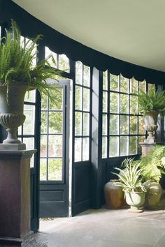 BenjaminMoore Guilford Green HC-116 with Waterborne Ceiling Paint, ultra-flat finish (ceiling). #2015ColorTrends