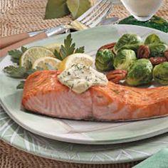 Salmon with Dijon Mayonnaise----tried very good!
