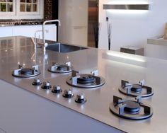 Easy clean gas range Image detail for -European Kitchen Trade Shows | european-kitchen-design.com