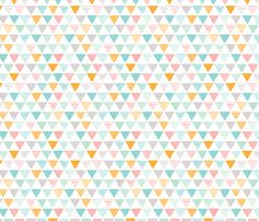 Geometric tribal aztec triangle pastel colors modern patterns fabric by littlesmilemakers on Spoonflower - custom fabric