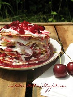 cherry lasagna!!!