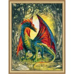 Forest Dragon Counted Cross-Stitch Kit - Herrschners