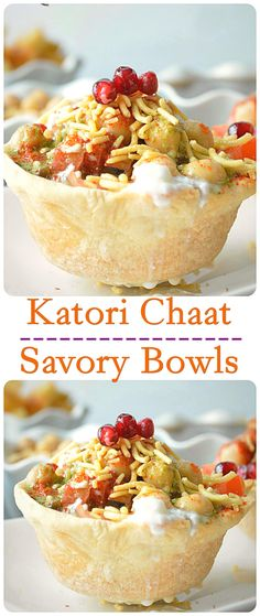 Katori or tokri refers to a bowl or canopies that are filled with a tangy mixture of potato, tomatoes and lip smacking chutneys! Indian Appetizers, Indian Snacks, Indian Food Recipes, Appetizer Recipes, Chutney, Chaat Recipe, Indian Street Food, Desi Food, Ramadan Recipes