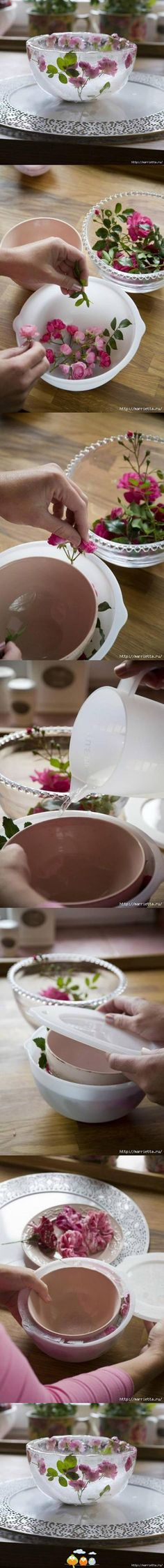 How to make a gorgeous bowl of ice - so incredibly pretty!