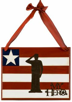 My Hero Door Hanger    Honor those who serve in the military with this patriotic piece of home décor, made with the Cricut Expression machine.