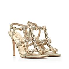 4cf57421dd4bb4 Embellished strappy heels are the perfect go-to for those springtime  weddings youll be attending
