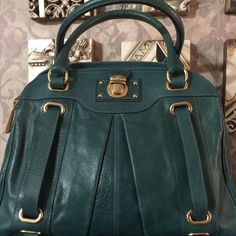 75dc6715953e Marc Jacobs Collection Teal Hudson RARE EUC Super Rare Marc Jacobs  Collection Teal Hudson Satchel - lined in Burgundy Leather. This color  Hudson was only ...