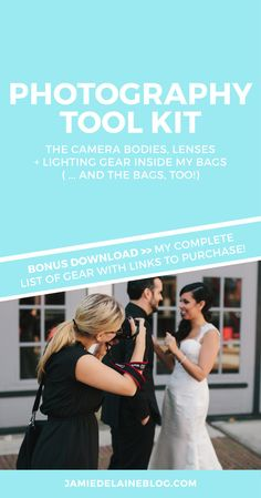 My Photography Toolkit: Complete list of my bodies, lenses and lighting gear. Plus FREE bonus download with gear Q+A!
