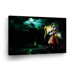 Harley Quinn and Joker Canvas Print Decorative Art Modern Wall Décor Artwork Vertical 0 Handmade in the USA- JHH23_2436 * Click image for more details. (This is an affiliate link) #UsefulHomeDecor