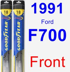 Front Wiper Blade Pack for 1991 Ford F700 - Hybrid
