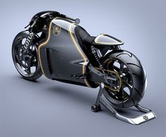 The Lotus Motorcycles C01designed by Daniel Simon, powered by a 1,195-cc V-twin engine with a distinctive body, power comes in at 200 horsepower. The chassis is made up of steel, titanium and carbon fiber, with a seat height of about 28 inches. With weight of under 400 pounds, and it only made just 100 units.