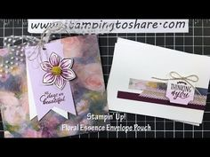 How to Make a Note Card Holder Out of Designer Series Paper! - Stamping To Share Circle Punch, Glue Dots, Card Envelopes, How To Make Notes, Note Cards, Stamping, Card Stock, Banner, Card Holder