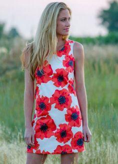 Krimson Klover Southern Belle Poppy Print Dress