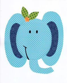 Elephant Colorful Animal Nursery Artwork Print Baby Room Decoration // Kids Room Decoration // Gifts Under 20 // Little Boys Room wall art