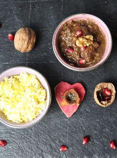 Khoreshte Fesenjan-persisches Lammschmorgericht in einer Granatapfel-Walnuss-Sosse <3 Labsalliebe
