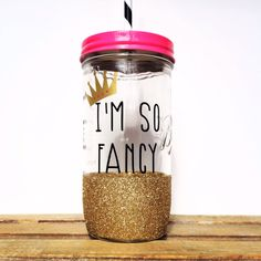 Personalized Tumbler - 24oz Mason Jar Tumbler - Bachelorette Party Glass, Bridesmaids Gift, Wedding Glass