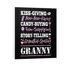 """Grandkid Spoiling Granny!"" Vertical Canvas"