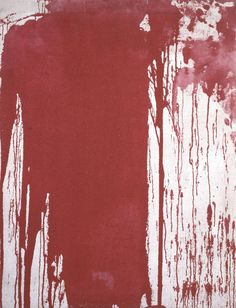 Herman Nitsch - Poured Painting, 1963. Oil on canvas