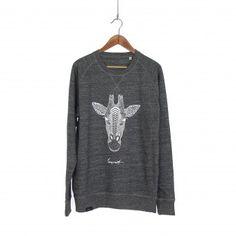 Canprint Giraffe // Sweatshirt // Dunkelgrau meliert