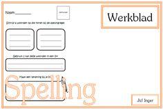 Werkblad Spelling - Juf Inger
