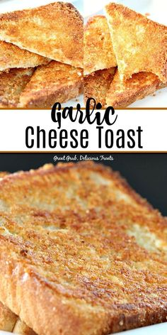 Garlic Cheese Toast is a delicious copy cat recipe of Sizzler's cheese toast. Cat Recipes, Cooking Recipes, Cheese Toast Recipe, Cheese On Toast, Yummy Treats, Yummy Food, Garlic Cheese Bread, Cheese Dishes, Cheese Food