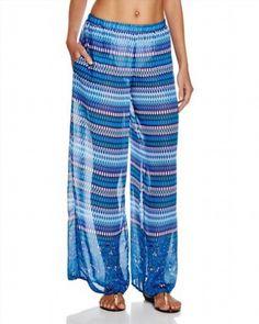 64.23$  Buy now - http://vigvh.justgood.pw/vig/item.php?t=fogsfcn23509 - Blue Lagoon Printed Swim Cover Up Pants