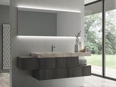Descarga el catálogo y solicita al fabricante Sense 07 By idea, mueble de baño suspendido de teca con espejo, Colección sense