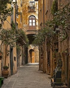 Orvietos Winding Streets Photograph - Orvietos Winding Streets Fine Art Print
