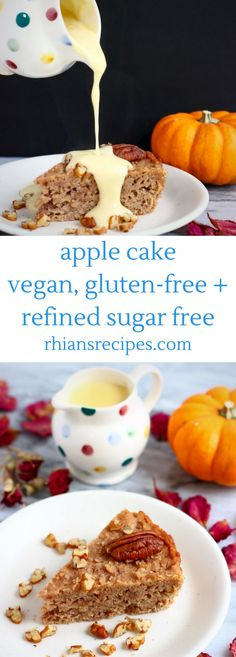 This Gluten-Free Vegan Apple Cake is perfectly spiced, packed full of sweet, juicy apples and so easy to make! Also refined sugar free.