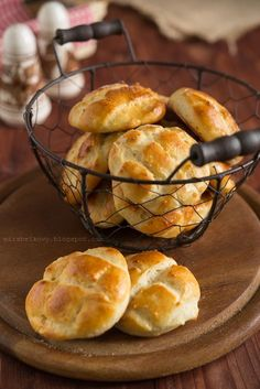 Pogacze Savoury Baking, Fries, Sandwiches, Muffin, Good Food, Favorite Recipes, Bread, Snacks, Cooking