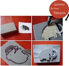 Duh, a stamp transfer method I hadn't thought of. Plus: Love the mammoth :)