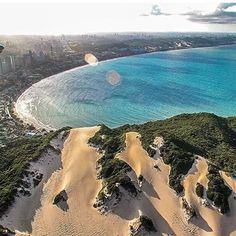 Registro fantástico da praia de Ponta Negra. vista de cima por trás do famoso Morro do Careca. #PontaNegra #Natal #RioGrandedoNorte #Brasil  #World  #Travel #Cidadeorigemnatal