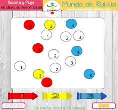 fichas-numeros-niños Herve, Ideas Para, Homeschool, Playing Cards, Notebook, Colours, Kids, To Tell, Shape Activities