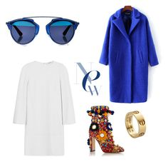 """Bleu beauté"" by paulinardzm on Polyvore featuring Belleza, Dolce&Gabbana, Christian Dior, Cartier y Givenchy"