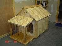 Hondenhok zelf maken, gratis bouwtekeningen.