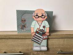 Excited to share this item from my #etsy shop: Older male doctor/nurse/hca, birthday card, get well, thank you, congratulations, 3d on the shelf card and envelope Purchase Card, Male Doctor, Handmade Envelopes, Folded Up, Get Well, All Design, New Baby Products, Birthday Cards, Congratulations
