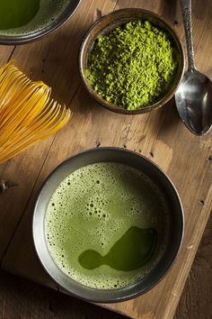 Matcha - a powdered, shade-grown green tea with Japanese origins. Whisk to serve! #matcha #health