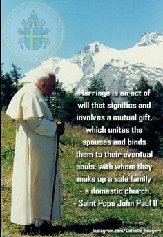 Catholic Marriage WITH WHOM THEY MAKE A SOLE FAMILY- leave and cleave!