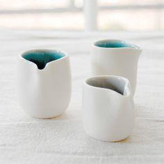 mini creamers: pigeon toe ceramics