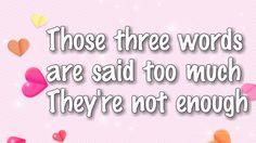 Aquelas três palavras são ditas demais Elas não são o suficiente… (Snow Patrol - Chasing Cars)
