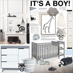It's a Boy! by szaboesz on Polyvore featuring interior, interiors, interior design, home, home decor, interior decorating, LIND DNA, Dorel Asia, Alex Marshall Studios and H&M
