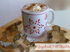 Gingerbread Hot Chocolate   www.pinkrecipebox.com