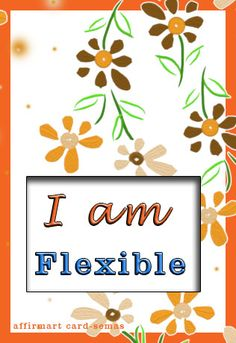 """I am flexible"" - this is my positive #affirmation to begin the new month of October."